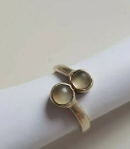 Sterling Silver Moodstone Ring Size L/M
