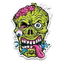 Monster Face Gesicht Aufkleber Sticker Zombie Zunge Grün Pink Skate Skateboard