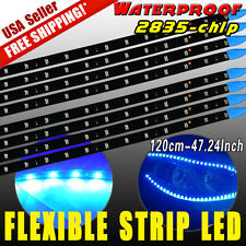 8X Waterproof Flexible Strip Car Motorcycle LED Lights 2835SMD 120CM DC 12V USA