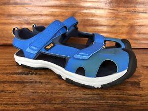 Unworn Teva Hurricane Toe Pro Junior Sandals Dazzling Blue 1019402Y Size 7