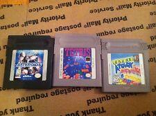 Nintendo Gameboy games Asteroids, Tetris, Tetris Attack KID FRIENDLY L@@K GB