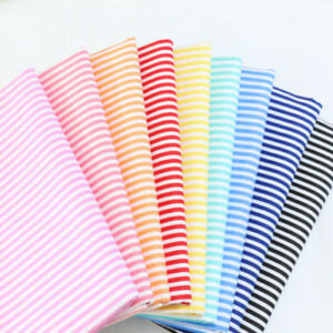 One PCS Striped Cotton Fabric Pre-Cut Cotton Fabric For Sewing Stars