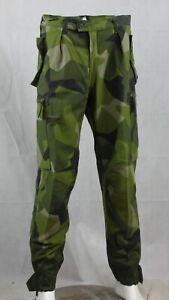 Genuine Surplus Swedish M90 Splinter Camo Trousers Pants Combats Green