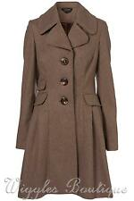 Topshop Knee Patternless Coats & Jackets for Women