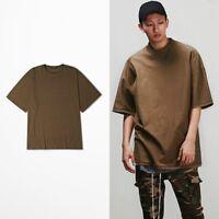 Men Loose Shirt Half Sleeve Tee Sweatshirt Hip Hop Cotton Tops Plus Size Casual