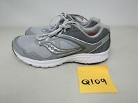 WOMENS SAUCONY GRID COHESION 10 WHITE GRAY RUNNING SHOES SIZE 9.5W Q109