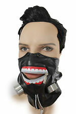 New Men Scary Black Fashion Half Face Mask Bio Hazard One Size Zipper Costume