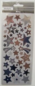 Silver Star Stickers on Thin Transparent sheet 52 pcs