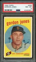 1959 Topps BB Card #458 Gordon Jones San Francisco Giants PSA NM-MT 8 !!
