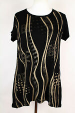 NEW WOMEN  TUNIC  size  14/16  TOP  SHORT SLEEVE  BLOUSE    1442