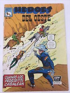 1971 SPANISH WESTERN COMICS HEROES DEL OESTE #283 LATIGO KID LA PRENSA MEXICO