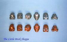 Lego Bionicle 8530 set of 12 collectable gold & silver Kanohi masks for Toa