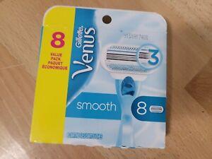 Gillette Venus Smooth Cartridge Refill (8 Pack) New in Pkg Shaving Ladies