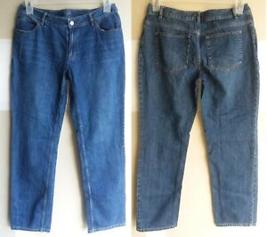 J. Jill blue denim medium wash 5 pockets straight leg jeans size 6