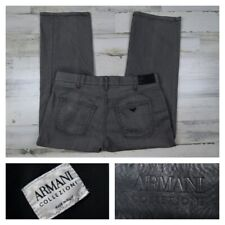 Armani Collezioni Mens 36 Gray Jeans Denim 5 Pocket Pants Stretch Italy 36x28
