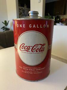 RARE Vintage COCA COLA SYRUP 1 Gallon CAN PAPER LABEL RED WHITE GREEN, Coca Cola