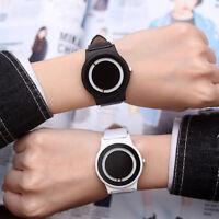 Men Women Couple Watch Minimalist Casual Turntable Quartz Analog Wrist Watches