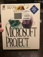 """MICROSOFT PROJECT V4.0 VINTAGE SOFTWARE W/ 3.5"""" DISKETTES RARE UNOPENED Free SnH"""