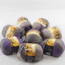 Lot 8ballsx50g Soft Chunky Colorful Hand Knitting Shawl Scarf Wrap Wool Yarn 815