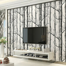 Birch Tree Home Decor  Wall Paper Luxury Wall Panel Roll for Bedroom Living Room