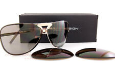 New Porsche Design Sunglasses P8678 8678 C Gold Interchangeable Lenses Unisex