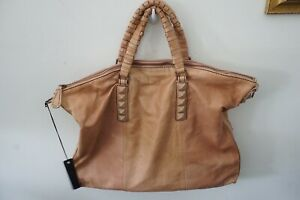 Liebeskind Sandrine Tan Leather Embellished Handbag Large NWT