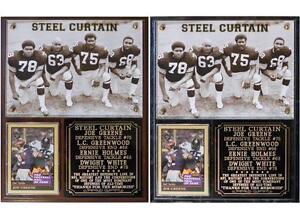 Steel Curtain Pittsburgh Steelers Photo Card Plaque Greene Greenwood White