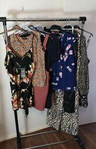 Womens Ladies Clothes Bundle Size 16 Midi Dress Trousers Shirt Blouse Top CC7