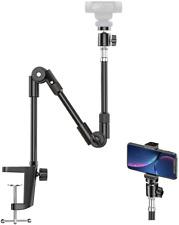 Webcam Stand Phone Holder For Video Recording Adjustable Clamp Base Ring Light