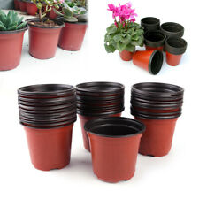 50pcs Two Colors Plastic Nursery Pots Garden Balcony Flowerpots Plant Containers