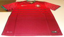 Team Portugal 2014 World Cup Soccer Home Jersey SS L Men's Red Stadium