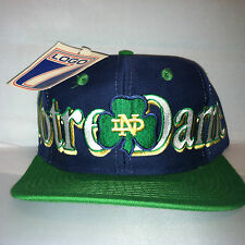 Vtg Notre Dame Snapback hat cap LOGO 7 rare 90s nwt College NCAA rudy football