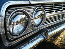 SET OF 4 CHROME VINTAGE STYLE POP OUT HEAD LIGHT COVERS # 126
