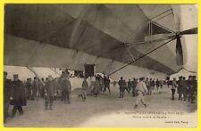 cpa 54 - LUNEVILLE Le ZEPPELIN au CHAMP de MARS en 1913 Dirigeable Aérostat