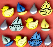 TUBBY TIME  Bath Baby Children Rubber Duck Sail Boat Water Novelty Craft Buttons