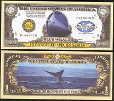 Lot Of 25 Bills - Endangered Blue Whale Million Dollar