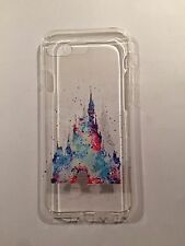 Disney Cinderella Castle Clear Silicone Gel Case For iPhone 7 PLUS BN. Xmas