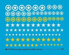 Peddinghaus 1/72 0782 US Army Tags White and Yellow Stars