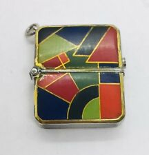 Haas Neveux & Cie Antique Art Deco Sterling Silver & Enamel Pendant Watch