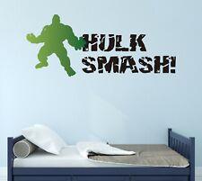 Hulk Smash Wall Decal Smashed Vinyl Black Lettering Art CUSTOM COLORS MS367