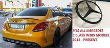 Genuine Mercedes-Benz W205 C-CLASS POSTERIORE BOOT BADGE EMBLEM STAR NERO OPACO