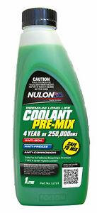 Nulon Long Life Green Top-Up Coolant 1L LLTU1 fits Holden Calibra 2.0 i (YE),...