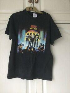 Retro Kiss Band T Shirt Love Gun Album