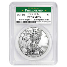Presale - 2021 (P) $1 American Silver Eagle PCGS MS70 Emergency Issue FS Philade