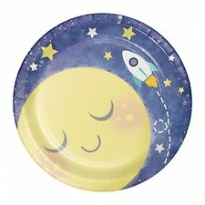 I love You to the Moon and Back Dessert/Appetizer Paper Plates-Package of 8-7in.
