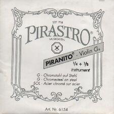 Corde à l'unité Violon Pirastro 1/4 1/8 Violin G4 Sol Acier chromé sur acier