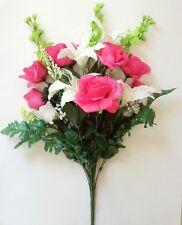 """21"""" Mixed Rose Lily Filler Bouquet Silk Flower Home Office Wedding Decor"""
