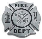 FIRE CHROME MALTESE USA MADE EMBLEM ADHESIVE MEDALLION