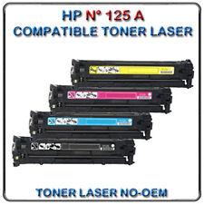 NO-OEM TONER PACK HP N° 125A GÉNÉRIQUE CB540A CB 541A CB543A CB542A COMPATIBLE