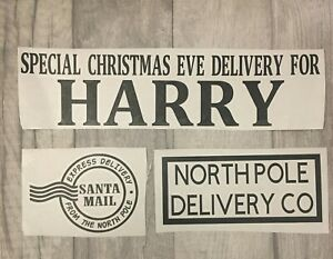 Personalised Christmas Eve Box Crate Vinyl Decal Xmas Family Name Craft Sticker